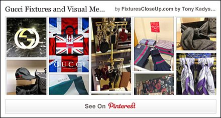 Gucci Fixtures and Visual Merchandising Pinterest Board FixturesCloseUp