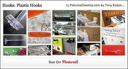Hooks- Plastic Hooks FixturesCloseUp Pintereest Board