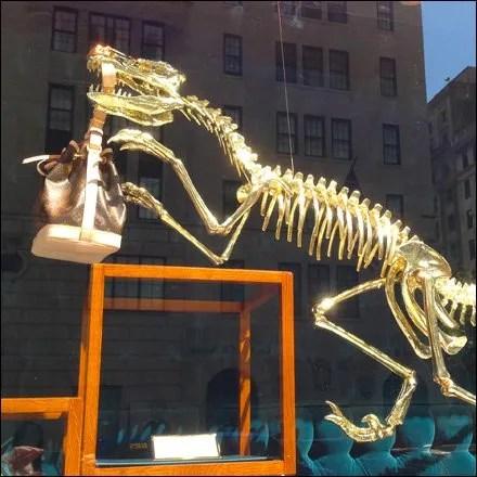 Prehistoric Retail Fixtures - Louis Vuiiton Dinosaur Main