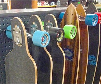 Skateboards On Single-Prong Hooks