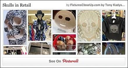 Skulls in Retail Pinterest Board FixturesCloseUp