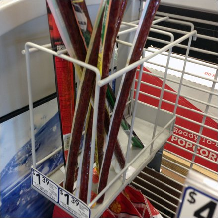 Slim Jim Beef Jerky Grid Rack is Dual Lane