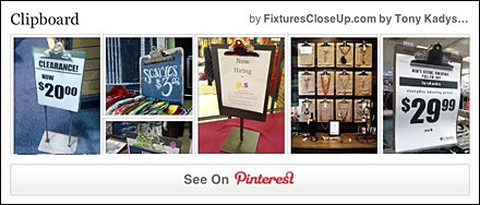 Clipboard Pinterest Board on FixturesCloseUp