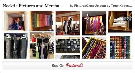 Necktie Fixtures and Merchandising Pinterest Board for FixturesCloseUp