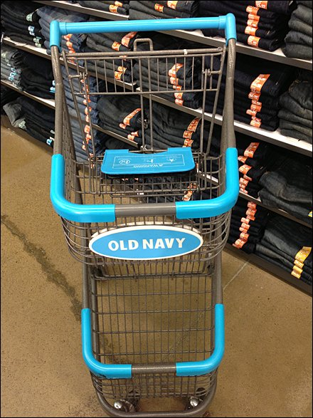 Old Navy Merchandising and Store Fixtures - Old Navy Branded Cart Rollout