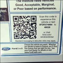 QR Code for Ford Auto Sale