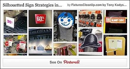 Silhouetted Sign Strategies Pinterest Board on FixturesCloseUp