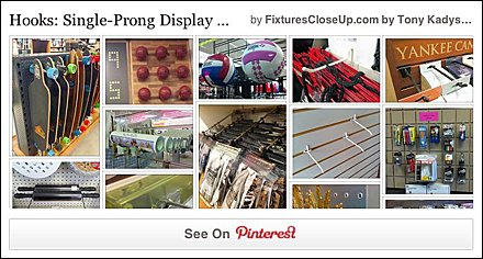 Single Prong Display Hook FixturesCloseUp Pinterest Board