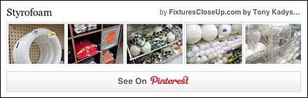 Styrofoam Merchandising Fixtures Pinterest Board FixturesCloseUp