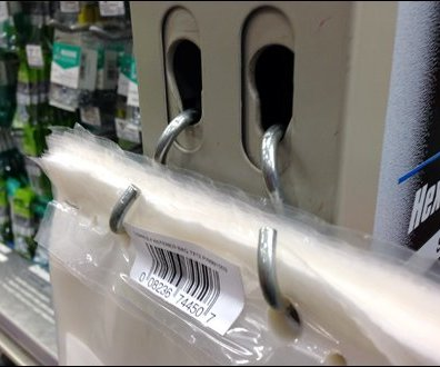 Twin S-Hook Bag Dispenser Detail