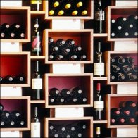 Wine Display Wall Closeup