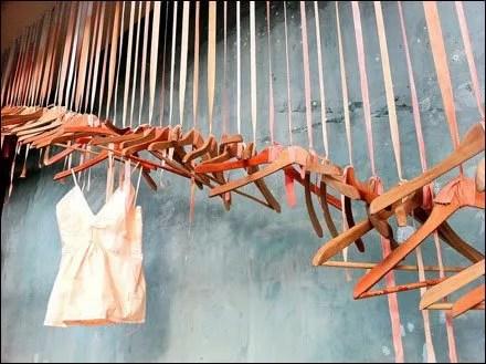 Anthropologie Hanger Cascade Window Dressing