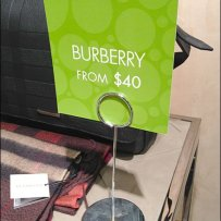 Burberry from $40 Aux