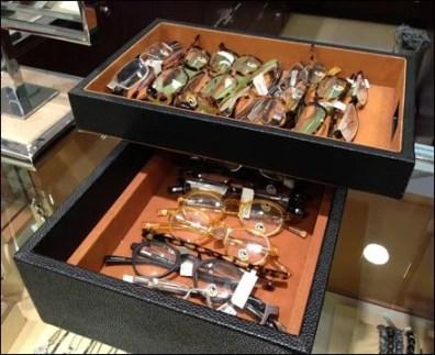 Eyewear in Leather Tray