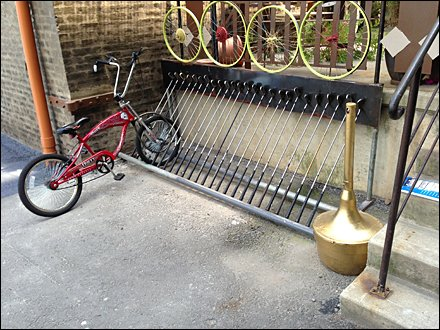 Golf Club Bike Rack 1