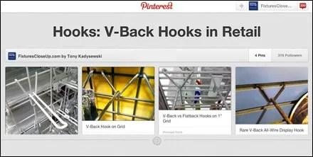 V-Back Hooks in Retail Pinterest Board