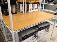 Wood Shelf Overlay for Metro Open Wire Shelf