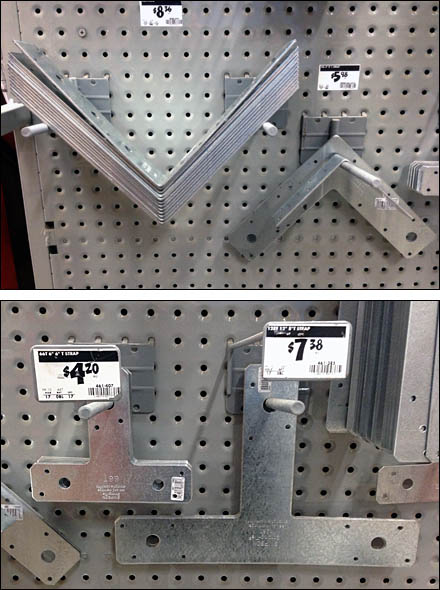 T-Strap L-Strap Angle Perf Metal Scan Hooks