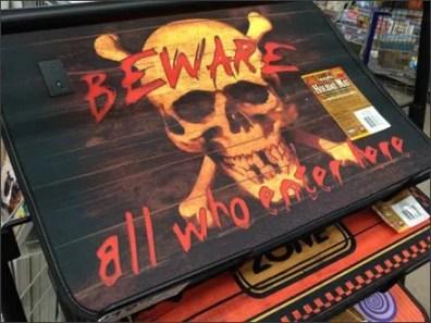 Beware Halloween Welcome Mats Closeup