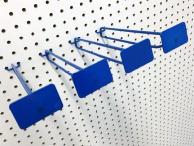 Blue All Wite Metal Plate Scan Hooks 3