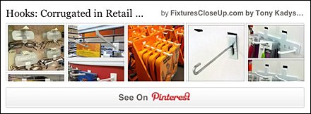 Corrugated Hooks Pinterest Board for Fixtures CloseUp