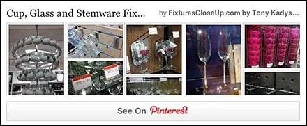 Cup, Glass and Stemware Fixtures Pinterest Board FixturesCloseUp