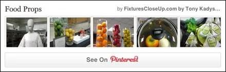 Food Props as Visual Merchandising Pinterest Board