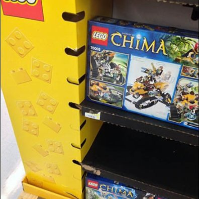 Lego Corrugated Variable Shelf Height Overall