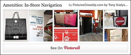 Navigation IN-Store Fixtures Close Up Pinterest Board