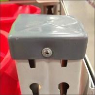 Pallet Rack Bumper Guard Screw Mounted CloseUp