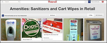 Sanitizers and Cart Wipe Amenities Pinterest Board