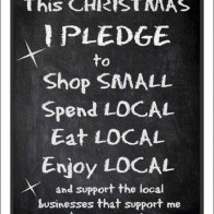 Shop Local Xmas Pledge