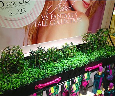 Topiary Signage Victoria's Secret 1