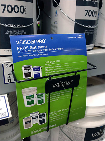 Valspar Branded Literature Holder Main