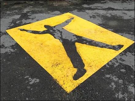 Warning Pedestrian Zone Main