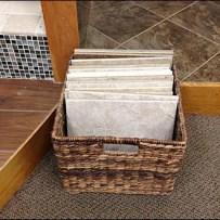 Wicker Basket for Floor Tile Aux