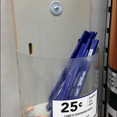 Carpenters Pencil Merchandising Closeup