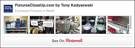 Cookware Retail Fixtures Pinterest Board
