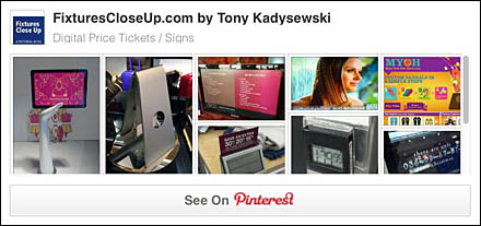 Digital Price Tickets and Signage Pinterest Board