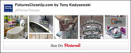 JCPenny Fixtures and Merchandising Pinterest Board