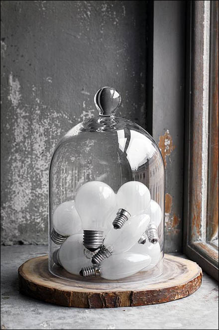 Light Bulb Bell Jar Still Life - Bell Jar the Unexpected
