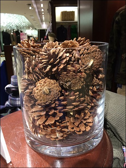 Holiday Pine Cone Retailing