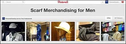 Scarf Merchandising for Men Interest Board