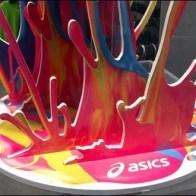 Shoes Make a Splash in Color CloseUp Detail