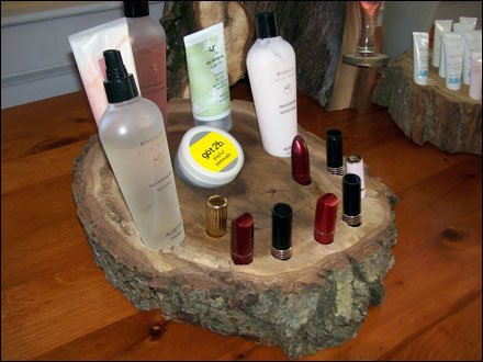 Upcycled Tree as Cosmetics Display Main