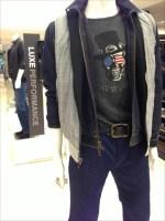 John Varvatos Skull Top-Hat T-S aJohn Varvatos T-Shirt Skull Top-Hathirt