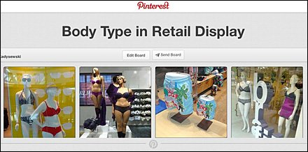 Body Type in Retail Display Pinterest Board