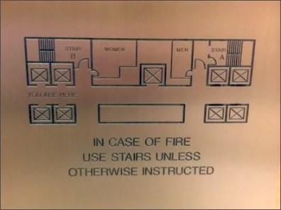Emergency Floor Plan Elevator Plaque Detail
