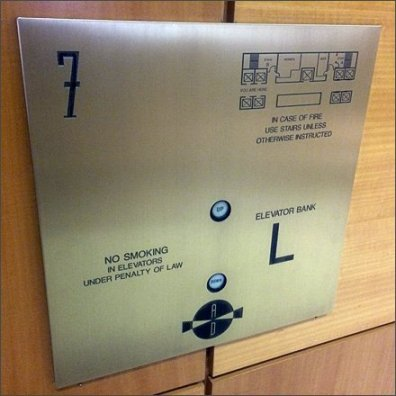 Emergency Floor Plan Elevator Plaque Main