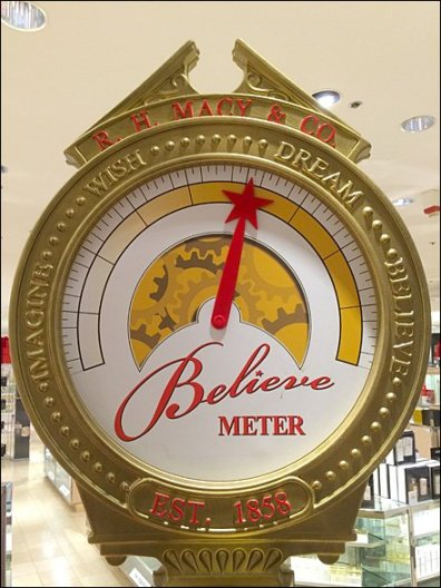 Macy's Believe Christmas Meter Closeup